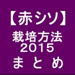【赤シソ36】 栽培方法2015 まとめ